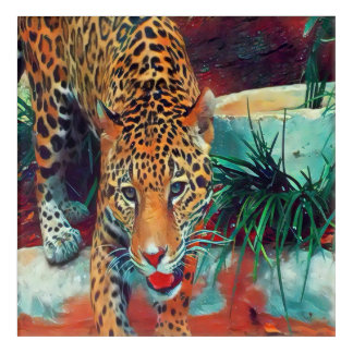 Jaguar in Motion 6234 Acrylic Wall Art