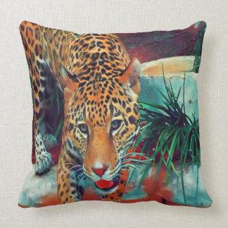 Jaguar in Motion 6234 Throw Pillow