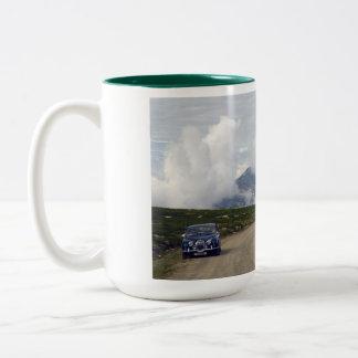 jaguar in rondane Two-Tone coffee mug