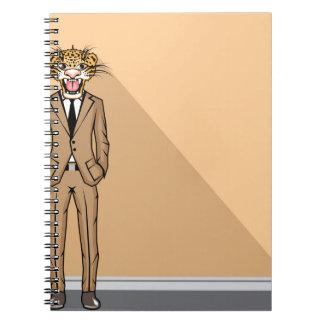 Jaguar Man Spiral Note Book