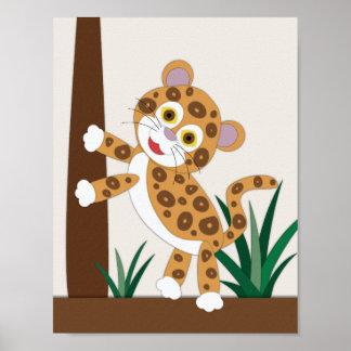 Jaguar Nursery Art Poster