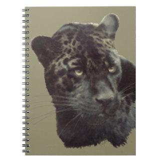 Jaguar painting spiral notebooks