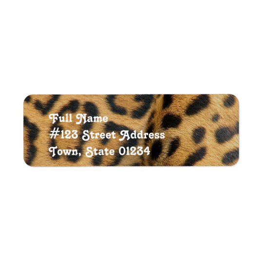 Jaguar Pattern Return Address Label