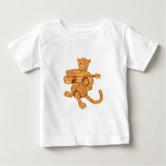 Jaguar Playing Guitar Drawing Baby T-Shirt