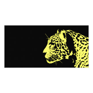 Jaguar Pop Art Photo Card Template