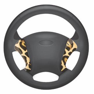 Jaguar Print Steering Wheel Standing Photo Sculpture