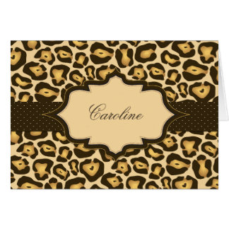 Jaguar Ribbon Thank You Card