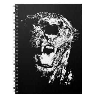 Jaguar Roaring Spiral Notebook