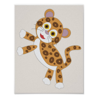 Jaguar Simple Nursery Art Poster