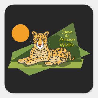 Jaguar Square Sticker