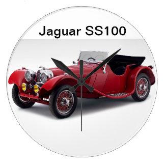 Jaguar SS100 Large Clock