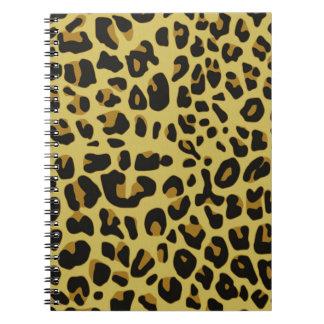 Jaguar Texture Spiral Notebooks