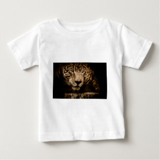 Jaguar Water Stalking Eyes Menacing Fearsome Male Baby T-Shirt