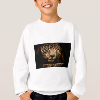 Jaguar Water Stalking Eyes Menacing Fearsome Male Sweatshirt