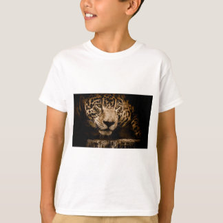 Jaguar Water Stalking Eyes Menacing Fearsome Male T-Shirt