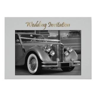 "JAGUAR WEDDING CAR Wedding Invitation 5"" X 7"" Invitation Card"