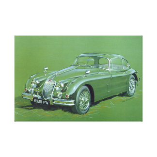 Jaguar XJ120 Gallery Wrapped Canvas