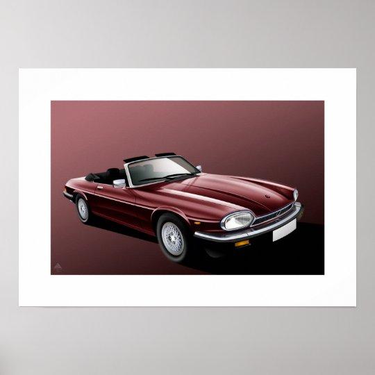 Jaguar XJ-S Convertible Poster