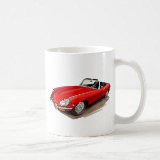 Jaguar XKE Red Car Coffee Mug
