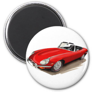 Jaguar XKE Red Car Magnet