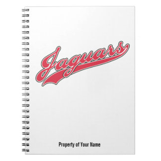 Jaguars Script Spiral Notebook