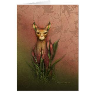 """Jaguarwoman's """"Fantasy Cat #1"""" Card"""