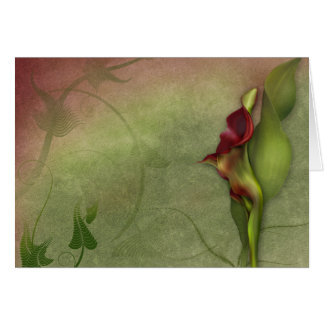 "Jaguarwoman's ""Red Calla Lily Portrait #4"" Card"