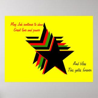Jah blessings poster