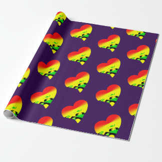Jah love on purple wrapping paper
