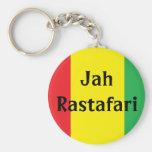 Jah Rastafari Design Rasta Keychain