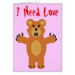 J'ai besoin d'amour cartes