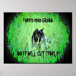 J'ai besoin de l'herbe d'emo poster