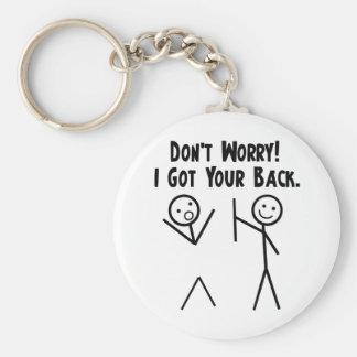 J'ai obtenu votre dos ! porte-clé rond