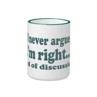 J'ai raison mug ringer