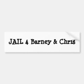 JAIL 4 Barney Chris Bumper Stickers