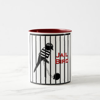 Jail Bird Two-Tone Coffee Mug