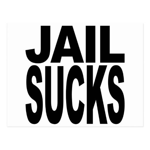 Jail Sucks Postcard