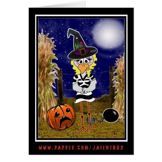 Jailbird Halloween Card