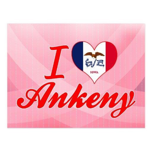 J'aime Ankeny, Iowa Cartes Postales
