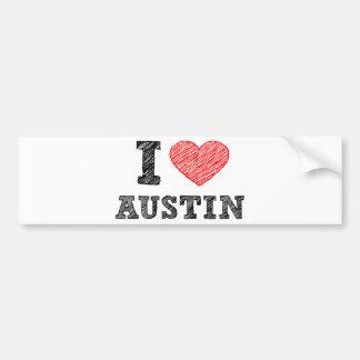 J'aime Austin Autocollant De Voiture