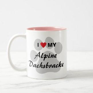 J'aime (coeur) mon Dachsbracke alpin Mugs À Café