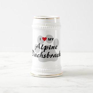 J'aime (coeur) mon Dachsbracke alpin Mug