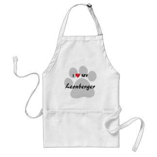 J'aime (coeur) mon Leonberger Pawprint Tabliers