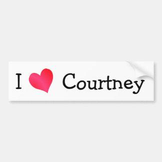 J'aime Courtney Autocollant De Voiture