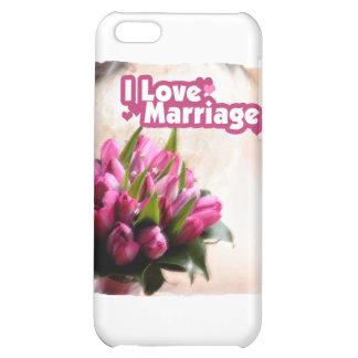 J'aime de belles fleurs de mariage étuis iPhone 5C