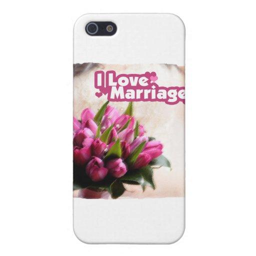 J'aime de belles fleurs de mariage iPhone 5 case