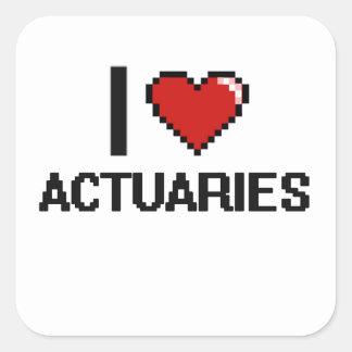 J'aime des actuaires sticker carré