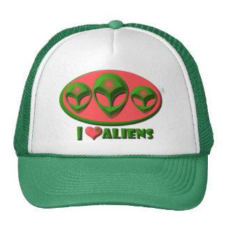 J'aime des aliens casquette