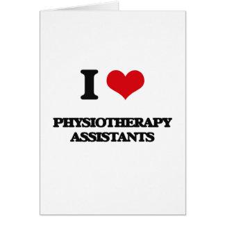 J'aime des assistants de physiothérapie carte de vœux