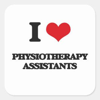 J'aime des assistants de physiothérapie sticker carré